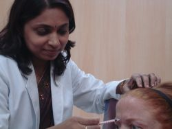 Botox treatment for fine winkles